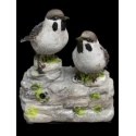 Brown & White Birds Whistling With Sensor [343686]