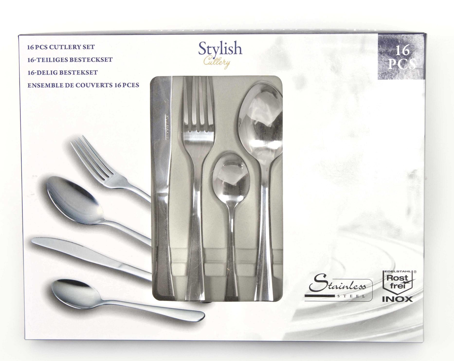 16 piece stylish kitchen stainless steel cutlery set tableware