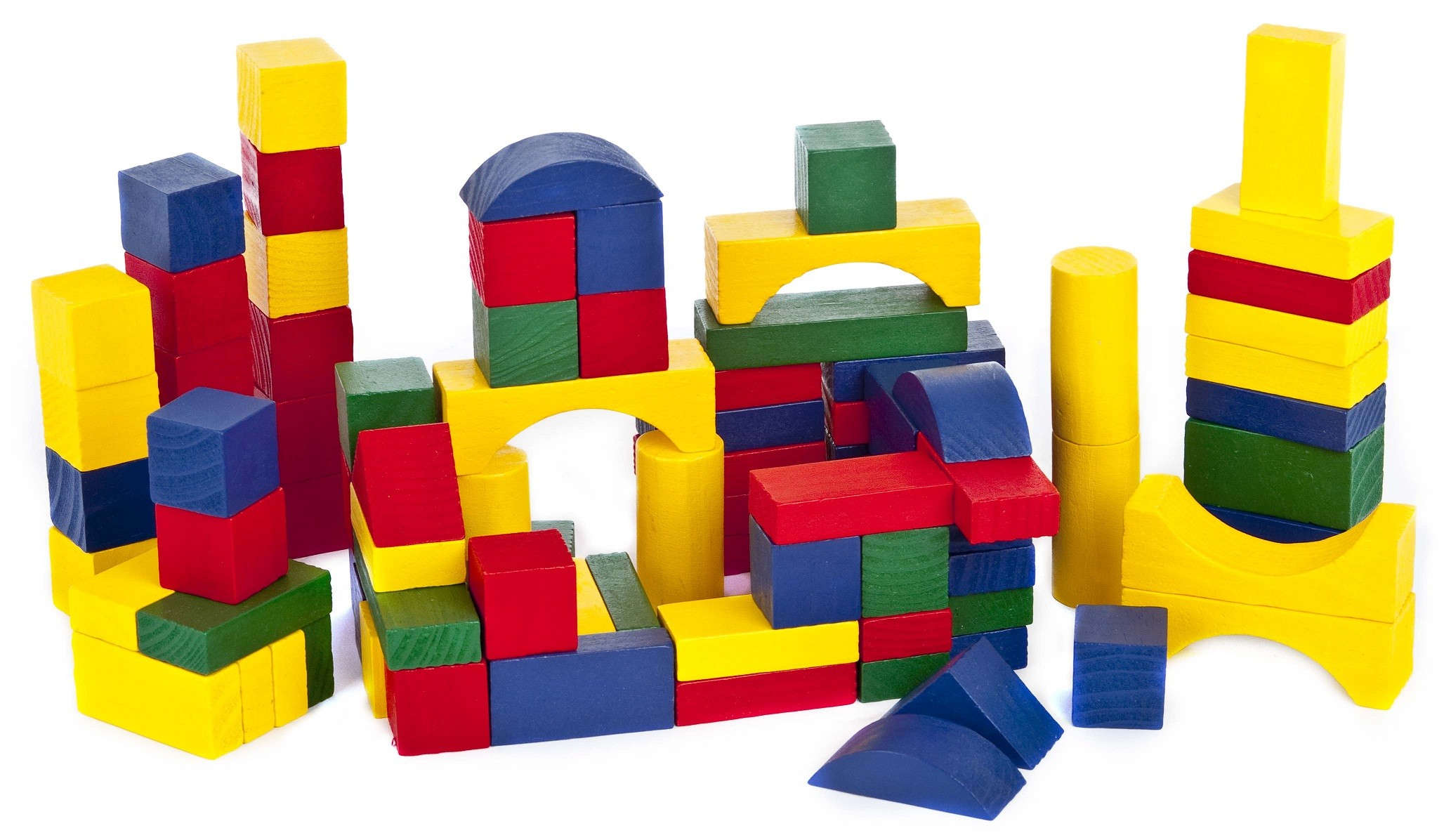 Wooden Construction Building Blocks Bricks Children's Wood ...