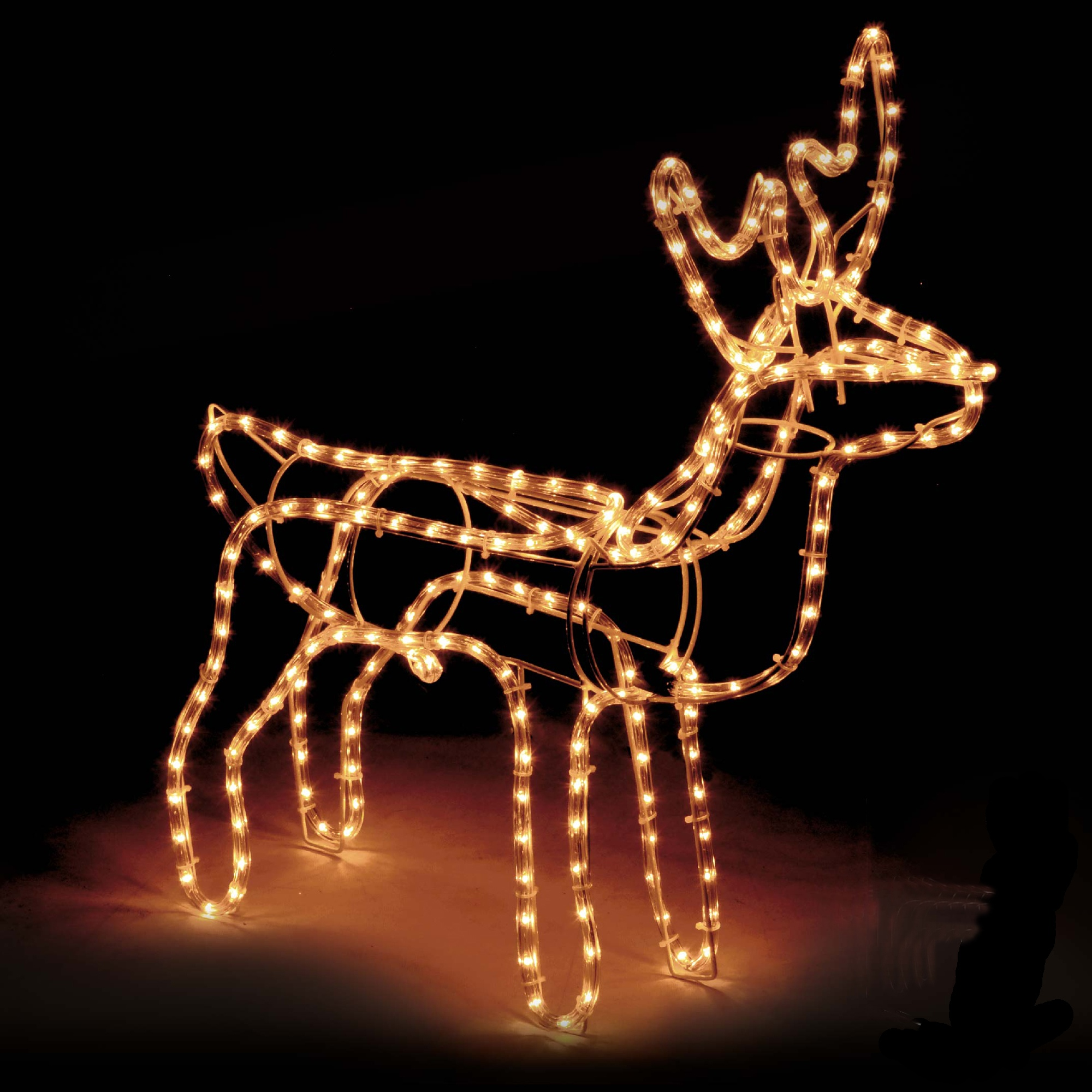 Large Christmas Reindeer Light Up Outdoor Garden Rope Decoration Silhouette 8718158979667  eBay