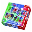 Puzzles - 4in1 - PJ Masks team / E1 PJ Masks [34299]