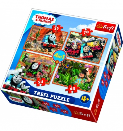 Puzzles - 4in1 - Travels around the world / Thomas and Friends [34300]