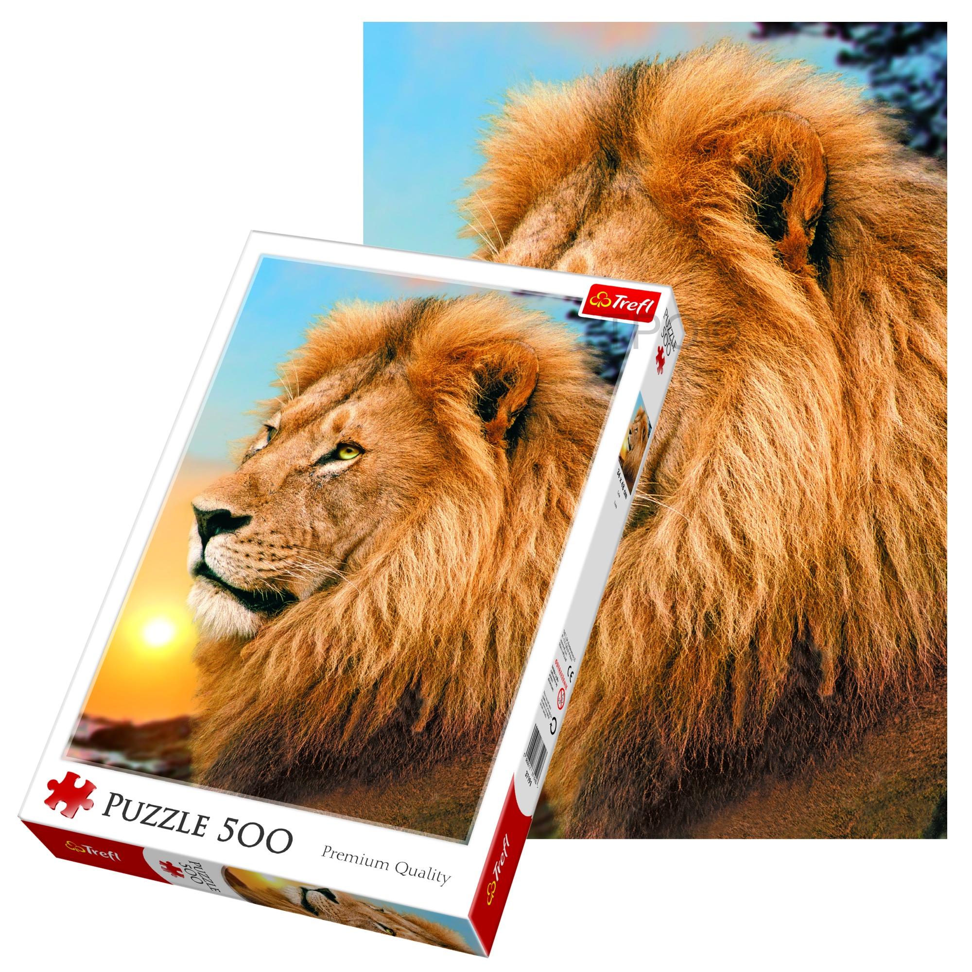 Trefl 500 Piece Kids Large Majestic Lion Mane Animal Floor