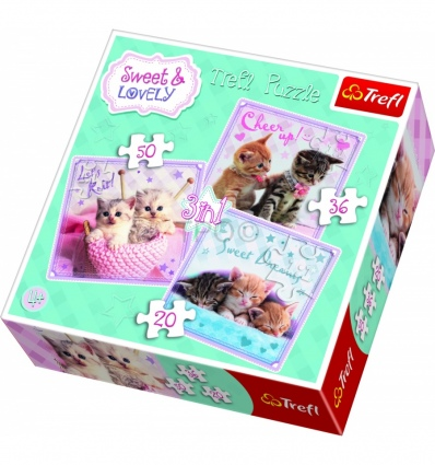 "Puzzles - ""3in1"" - Sweet kittens / Getty Images [34809]"