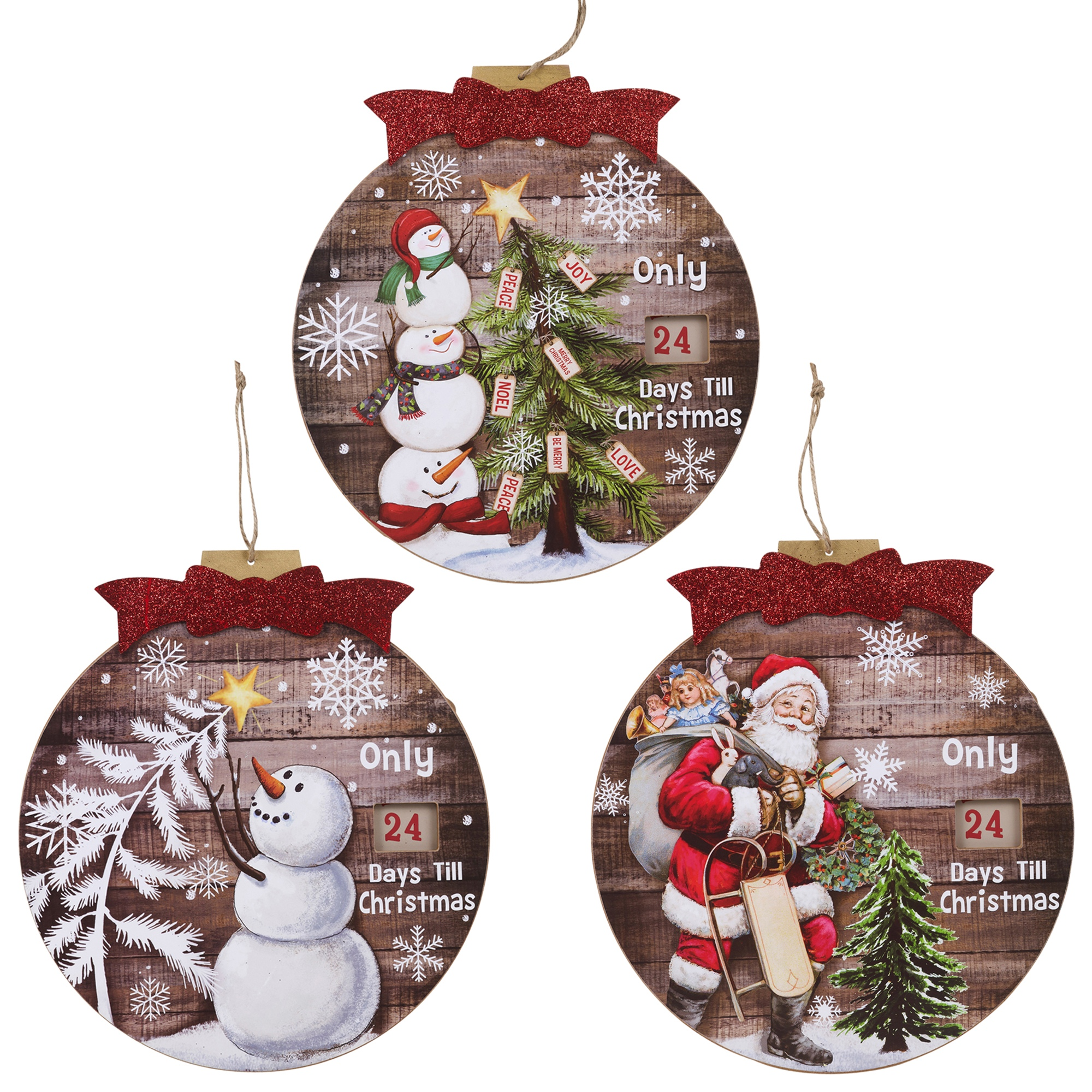 Days Till Christmas Uk.Details About Hanging Countdown To Christmas Advent Calendar Wooden Santa Snowman Plaque Sign