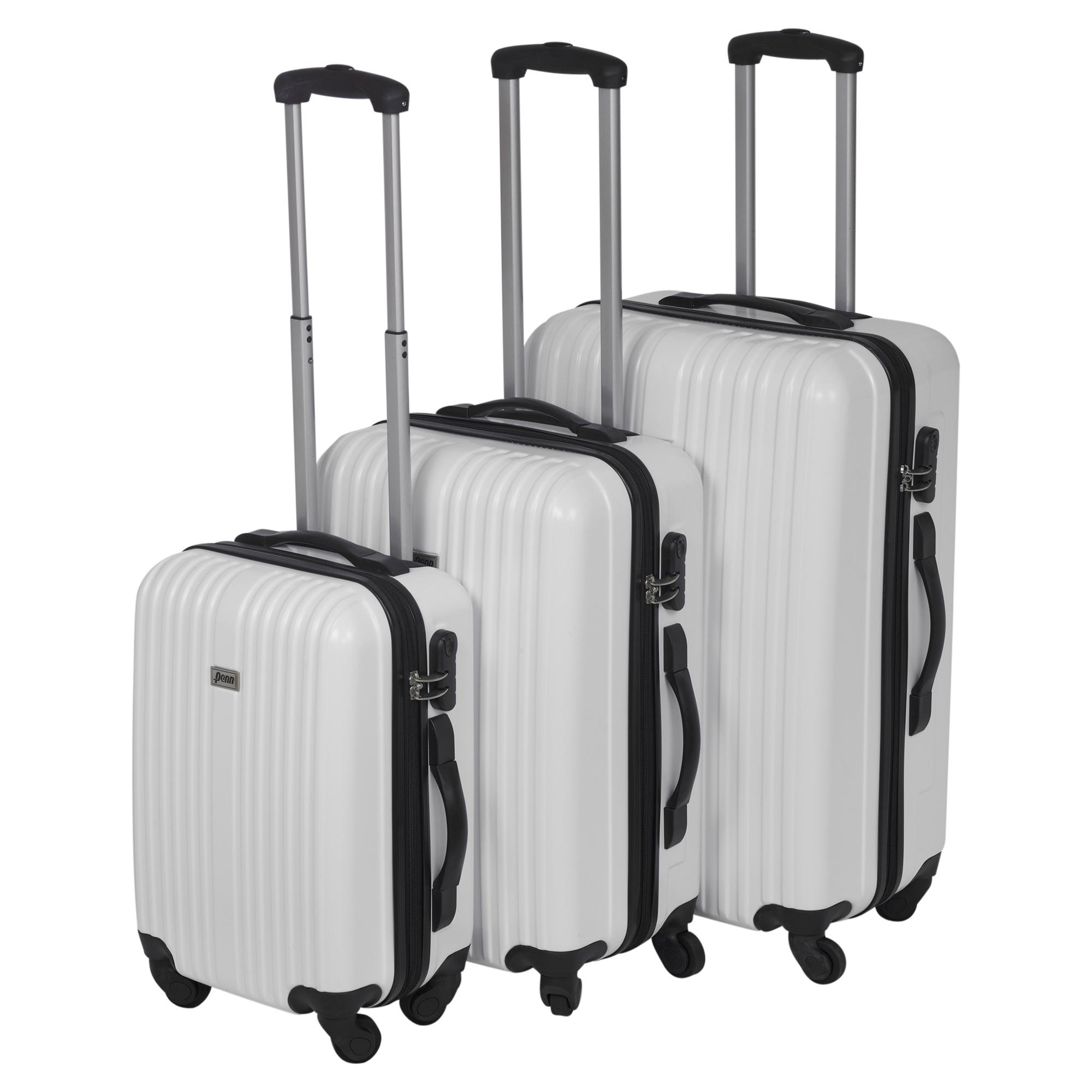 3 x Penn Lightweight Trolley Wheel Suitcase Luggage Travel Baggage Bag Cases Set
