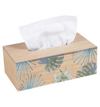 Painted Leaf Design Tissue Box [551648]