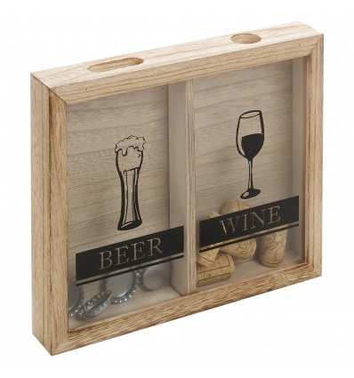 Wine Cork And Beer Cap Collector Box [133325]