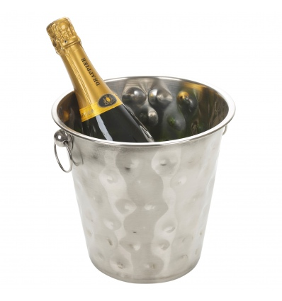 Indented Metal Champagne Bucket [918281]