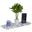 Spaceo Flower Print Floating Shelf 80x25cm [547325]