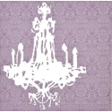 Pink / Chandelier Canvas Picture (42762)