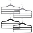 Set of 2 Flocked Velvet 3 Bar Trouser Hangers [2001355]