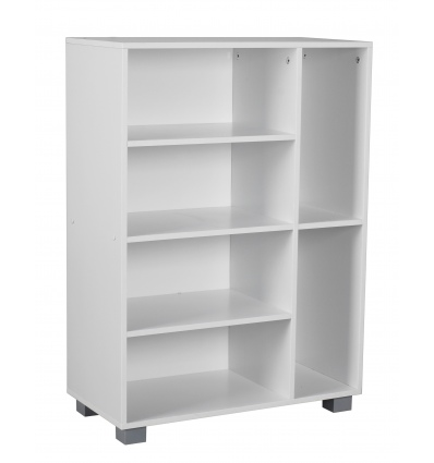 6 Sections Small Bookcase 60x30x84cm