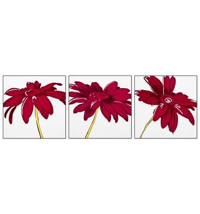 Plum Floral Canvas Picture (43519)