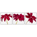 Plum Floral Multi Panel Picture (43519)