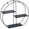 3 Tier Black Metal Wall Shelves