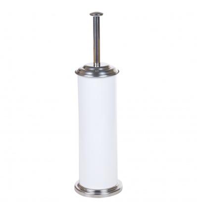 Croydex Freestanding Stainless Steel White Toilet Brush [077561]