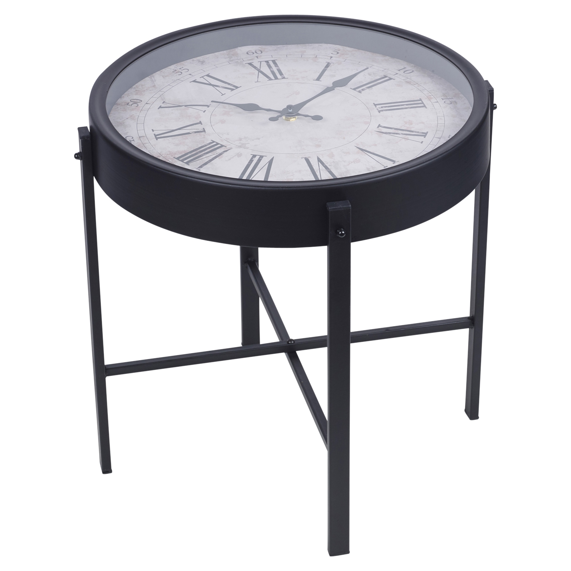 Black Metal Side End Table Nightstand Furniture Living