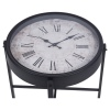 Round Tea Table With Clock Top 40cm [913903]