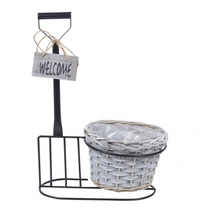 Outdoor Freestanding Metal Flowerpot  [907551]