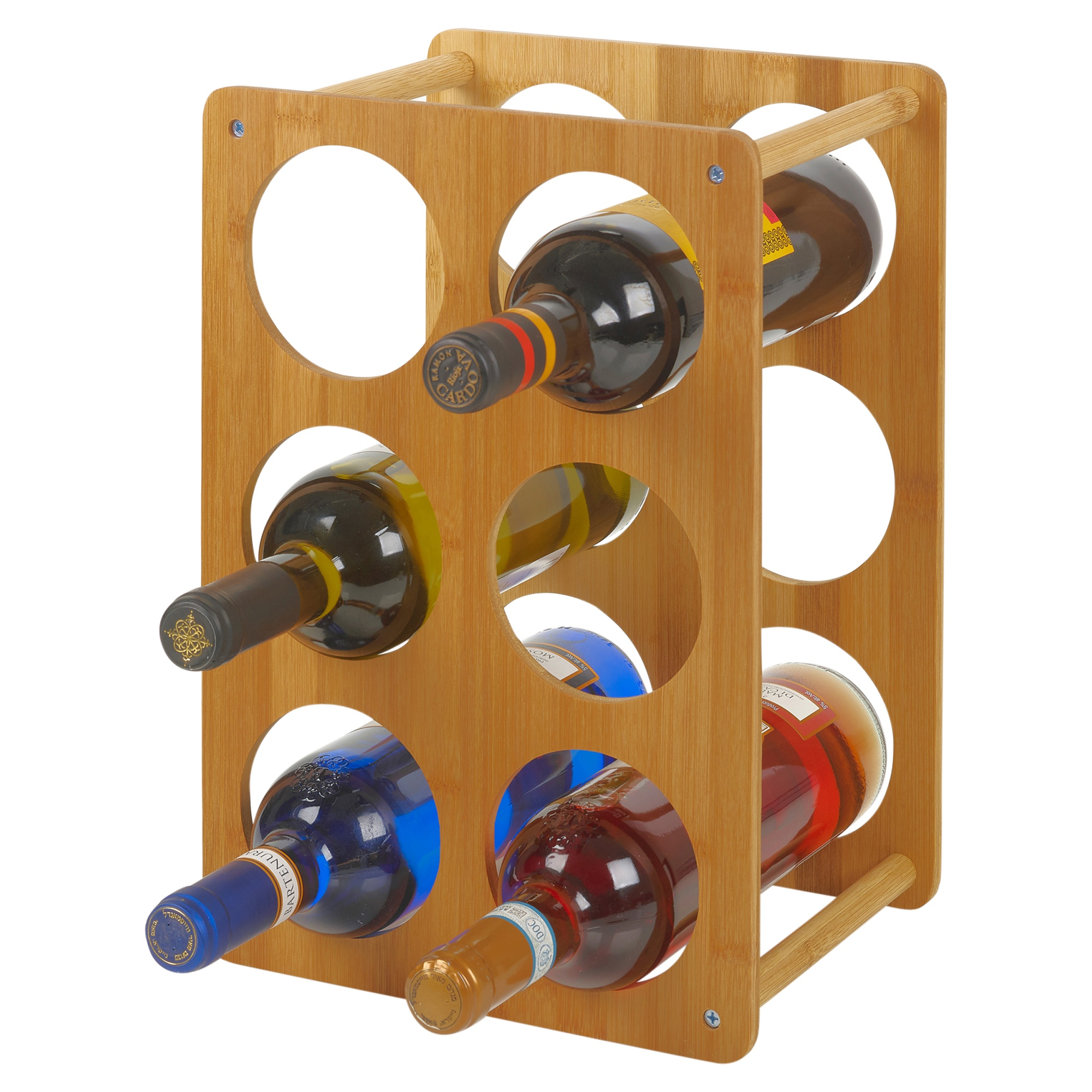 Holz Bambus 6 Raum Weinregal Flaschenhalter Shabby Chic Stehend Tisch Komode Ebay
