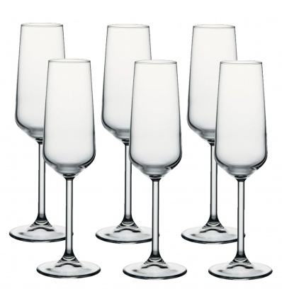 Pasabache Allegra Champagne Flute Set of 3 Glasses [128205] [278424]