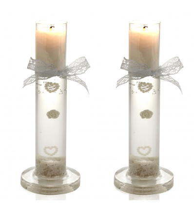 Wedding Candle In Glass 6.5x17cm [870953]