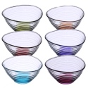 Coral Derin Coloured Dessert Bowl 6pc Set DRN258 [26021] [181078]