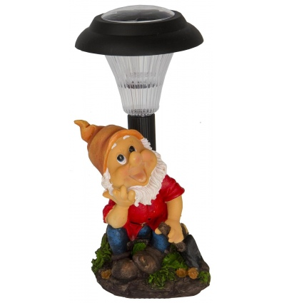 Solar Garden Gnome 28cm 6ass Outdoor Lights [958088]