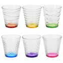 Colourful Drinking Glass Set of 6 Co[854633]