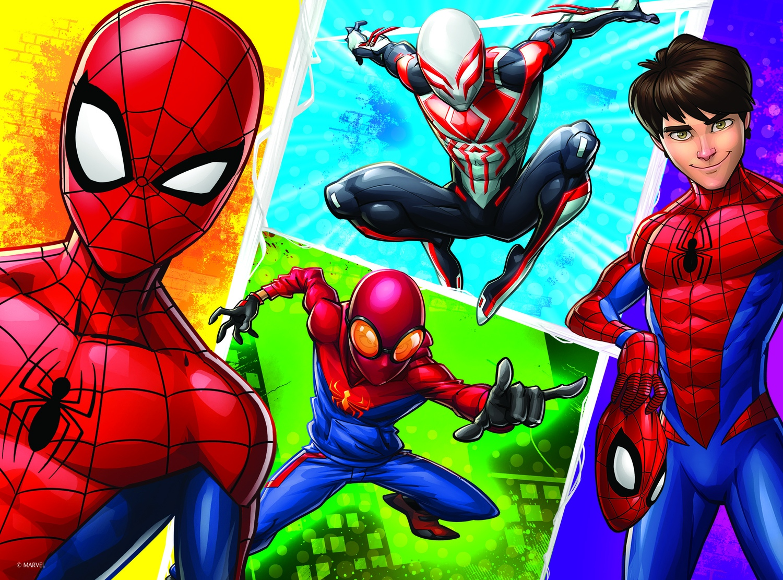 Trefl 30 Pièce Enfants Marvel Spider Man et Miguel Big PIECES SOL Jigsaw Puzzle