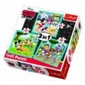 """Puzzles - """"3in1"""" - Mickey Mouse with friends  [34846]"""