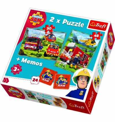 """Puzzles - """"2in1 + memos"""" - Firefighters in action  [90791]"""