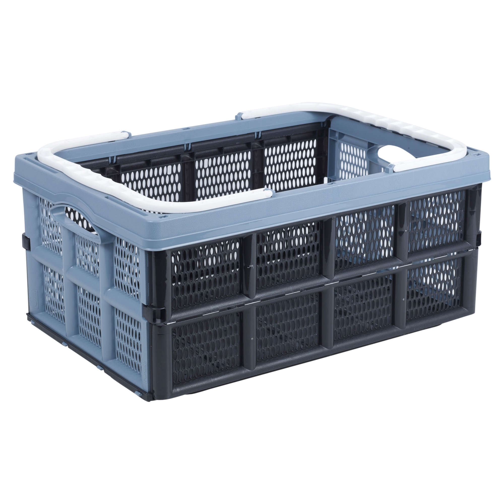 Collapsible Folding Plastic Storage Basket Crate Boxes