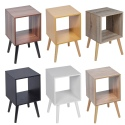 Cube Bookcase With Scandinavian Legs