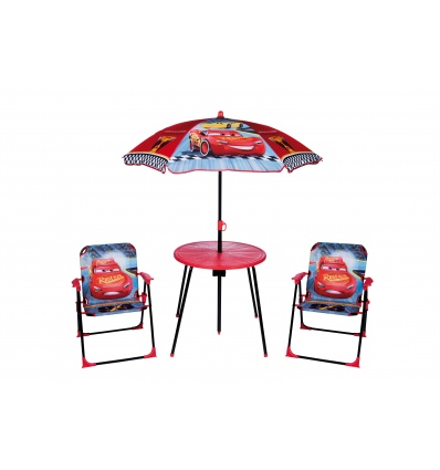 Garden Table with Umbrella and Chairs