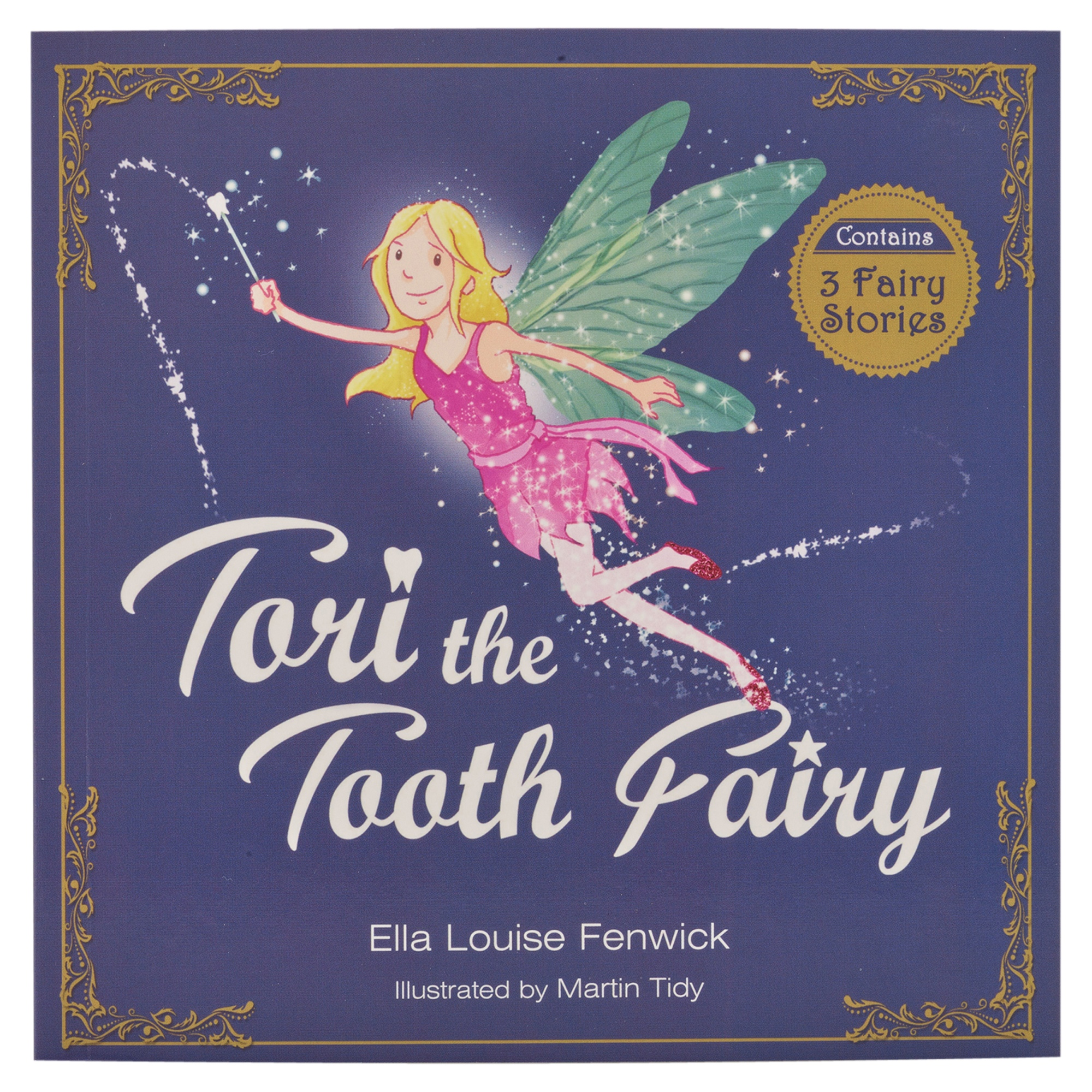 Tooth Fairy Gift Set Story Book Tooth Bag Magical Fairy Dust Kids Certificates