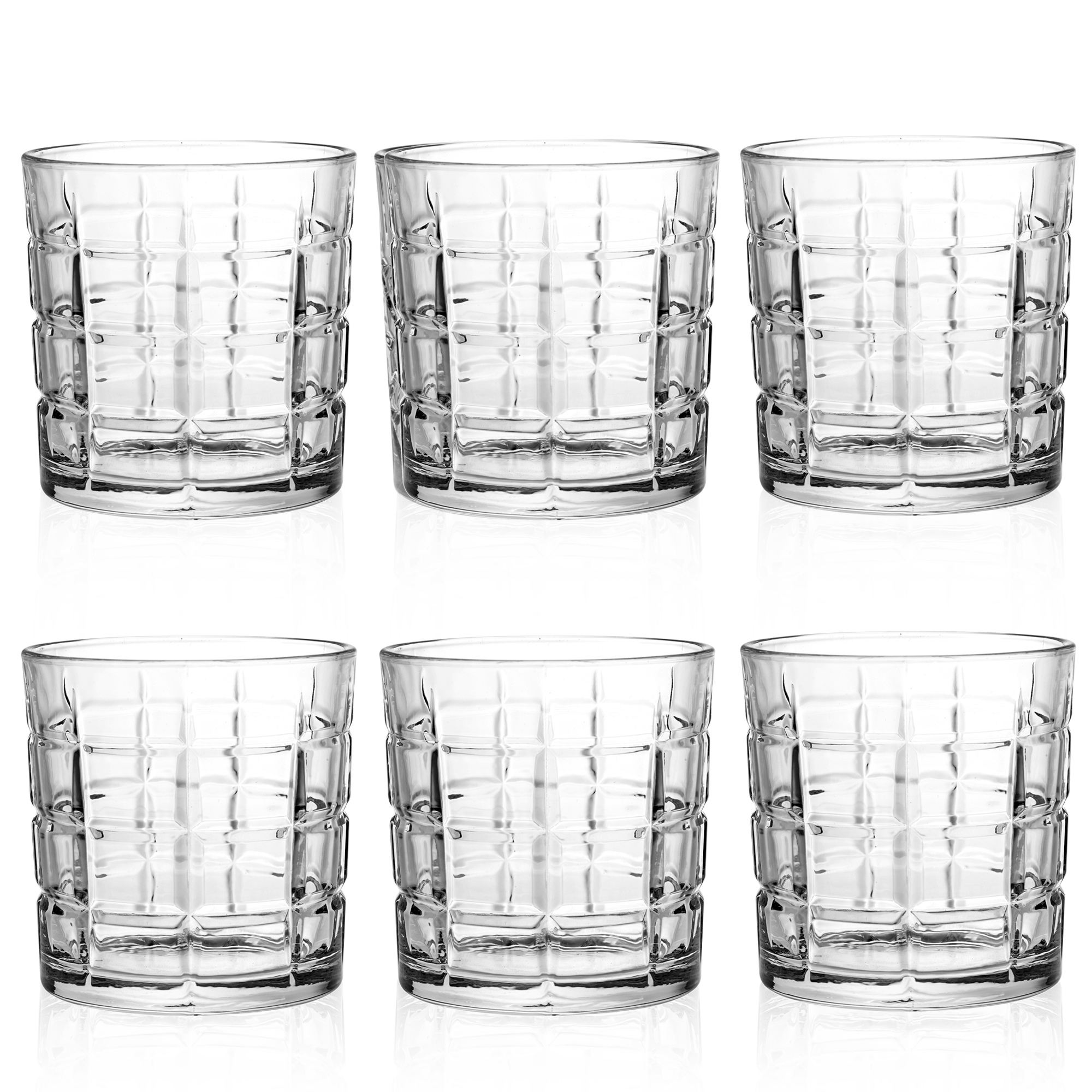 Gafas 6pc Whisky Vasos nuevo Queensway Conjunto en caja de regalo de 3 Diseños De Boda Navidad
