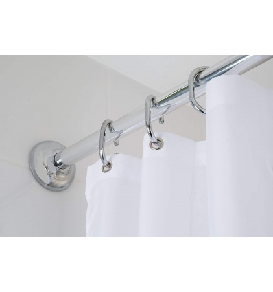 CROYDEX CHROME MODULAR SHOWER CURTAIN ROD [078667]