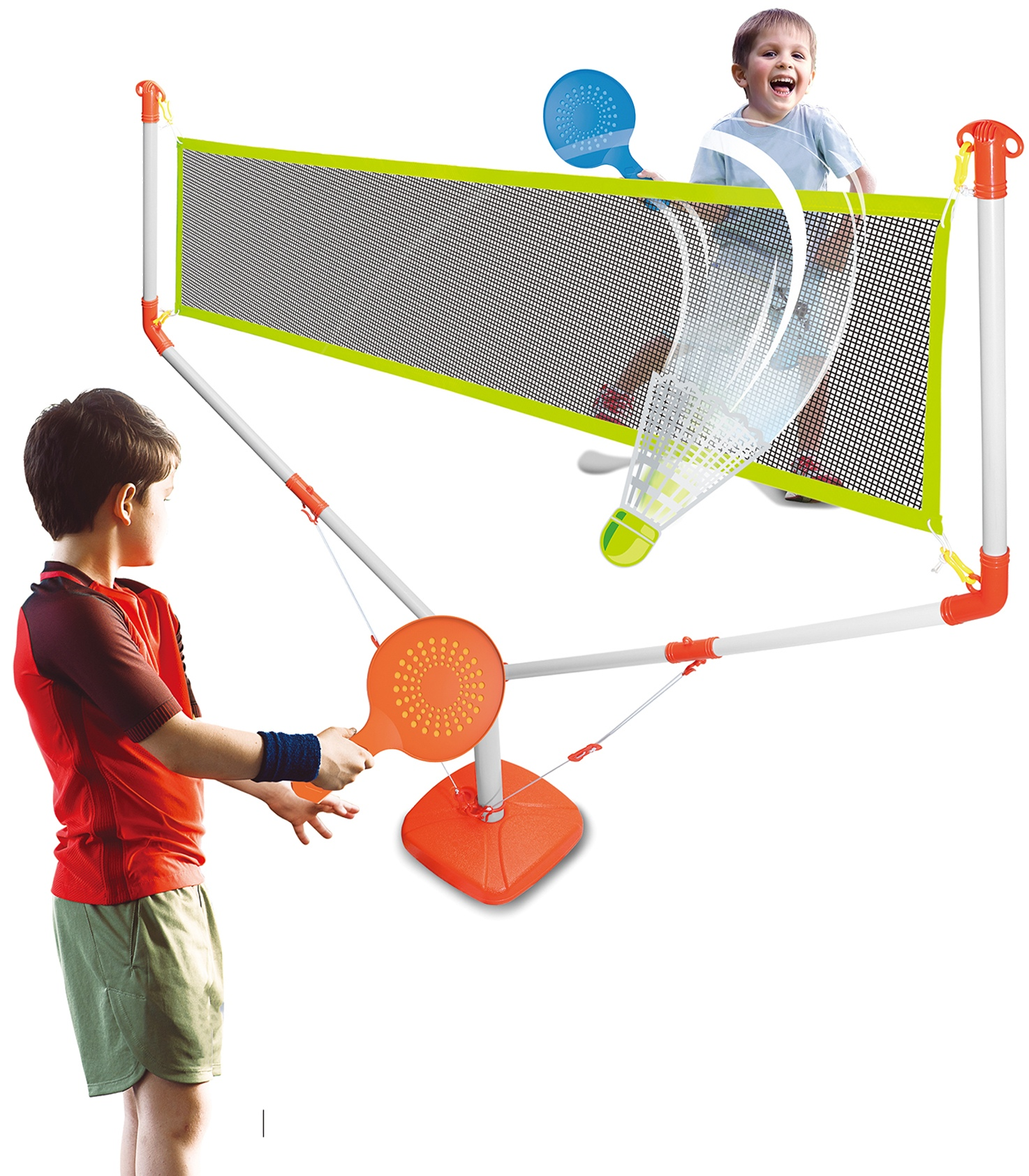 Kids 2 in1 Badminton and Volleyball Set Ball Racket Net Games Children Toys UK