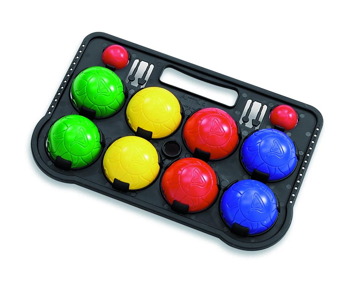 Plastic French Boules Set Balls Petanque Carry Case Outdoor Garden Games