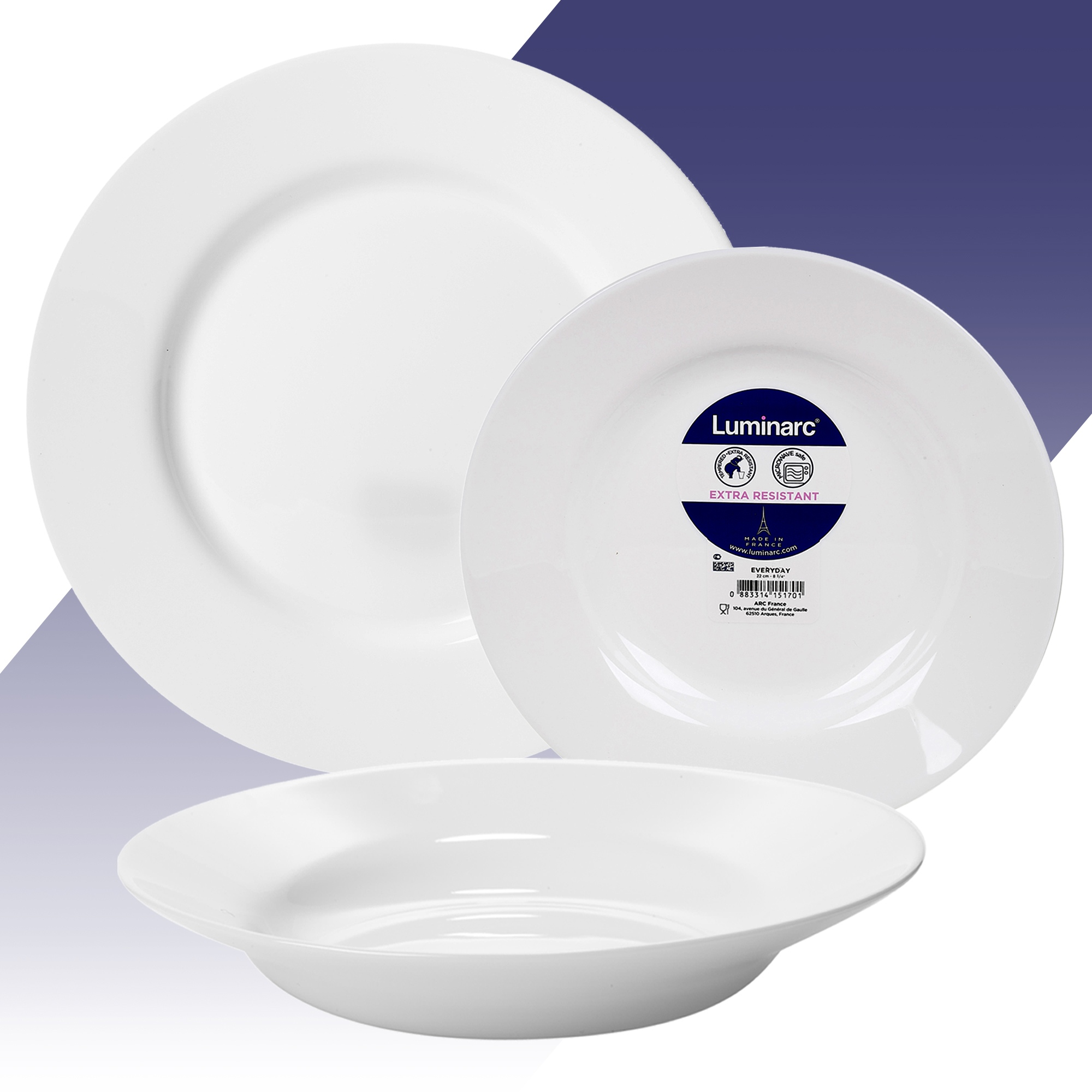 Luminarc 18 Pcs White Opal Glass Dinner Set Dinnerware Tableware Dining Plates Ebay