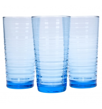 Pasabahce - 3 x 34.5cl Blue Granada Glass [413115]