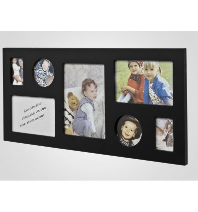 7 Photo Wooden Picture Frame