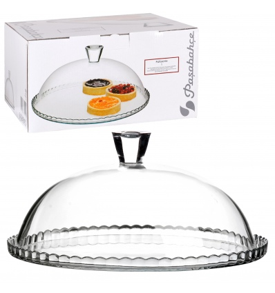 Pasabahce - Glass Cake Plate with Cover [203266]