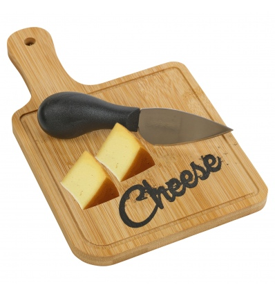 Bamboo Cheese Cutting Board with Knife Set [114830]
