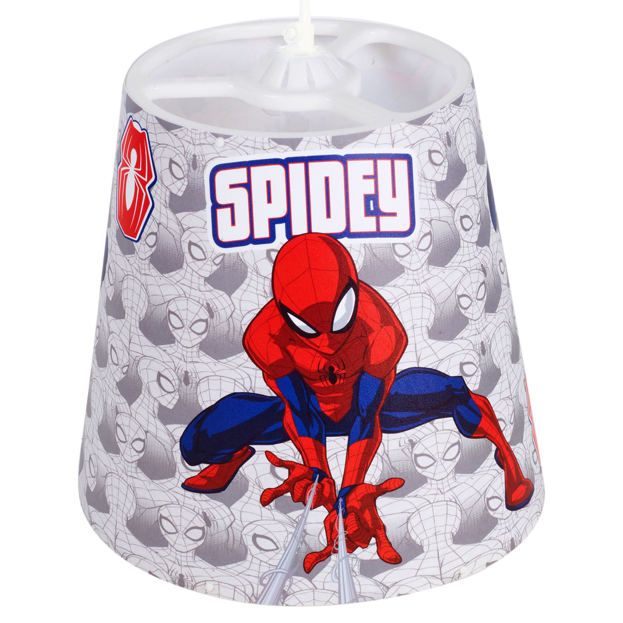 Details about Marvel Spiderman Lampshade Ceiling Children\'s Bedroom Fabric  Night Light Shade