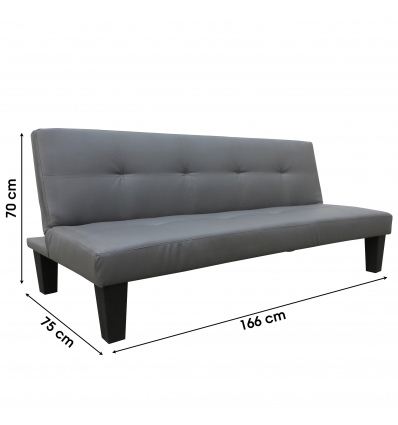 3 Position Sofa Bed 166x75/88x70cm