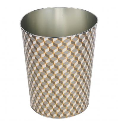 Golden Garbage Bin 22x17.5x26.2cm [530863]