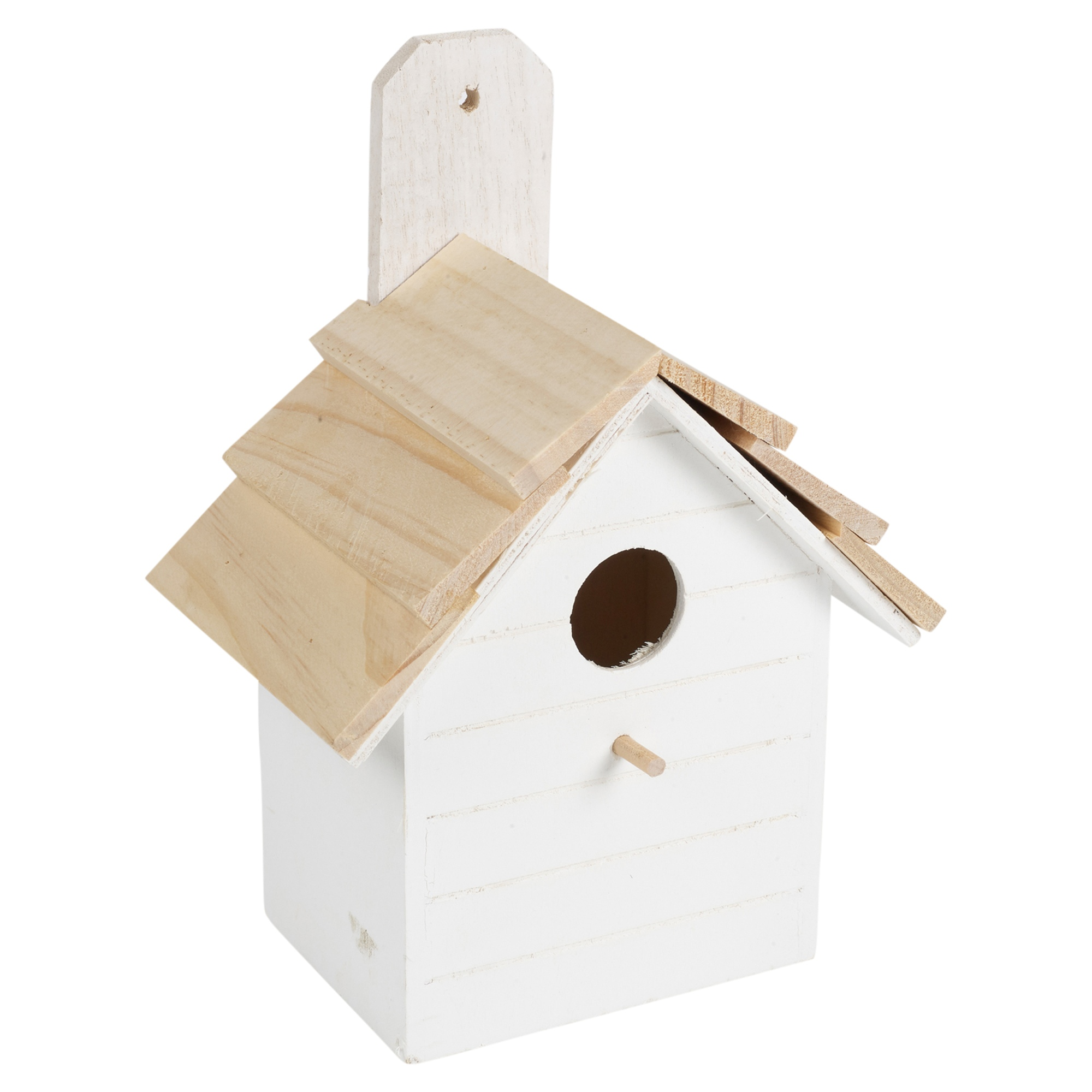 2 X WOODEN NESTING NEST BOX BIRD HOUSE SMALL BIRDS BLUE TIT ROBIN SPARROW